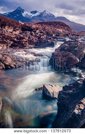 Beautiful River in Scotland on the Isle of Skye