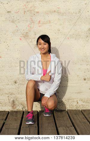 Successful Asian Athlete Smiling