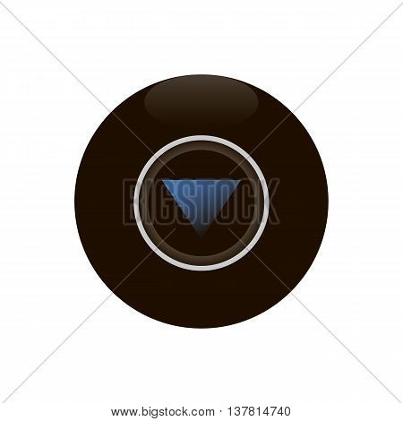 Magic 8 ball isolated on white background vector illustration.