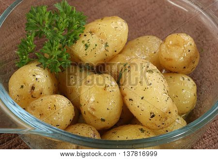 fresh new potatos sauteed in parsley butter