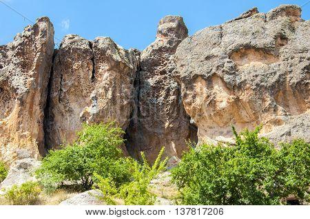 Midas Monument of Ancient Midas City in Yazilikaya, Eskisehir,