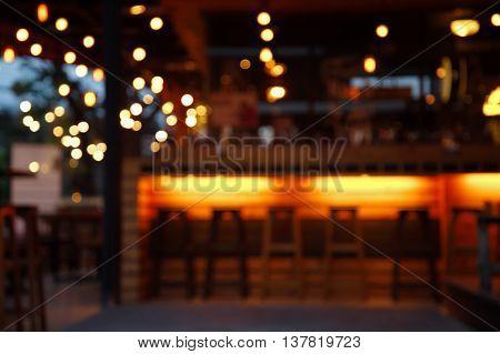 blur pub and bar at night abstract