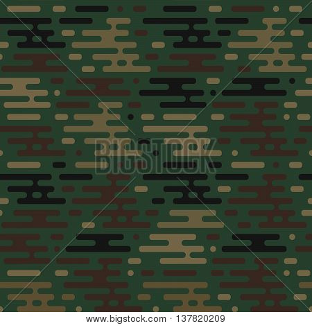 Vector seamless military war green color pattern
