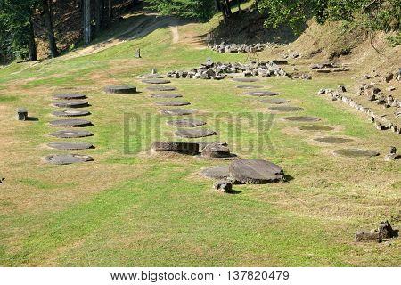 Historical Romania Sarmizegetusa Regia Sacred Area of last dacian capital