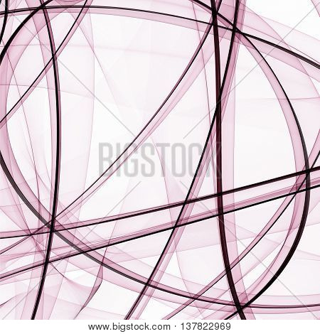 Abstract light background. Threads and translucent lines on a white background