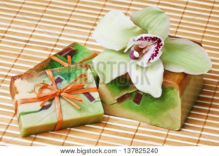 handmade soap with the scent of orchid