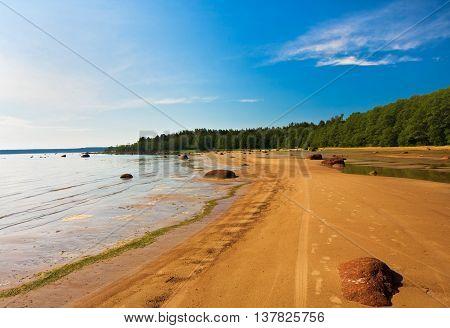 sandy Shore Gulf of Finland near Vyborg