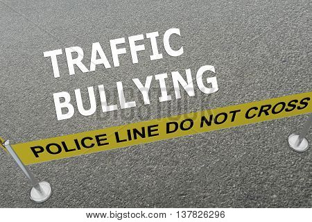 Traffic Bullying Concept