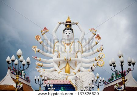 Koh Samui, Thailand - December 14 : The Big Buddha Statue and built in 1972. It is located on the territory of the temple Wat Phra Yai on the Day of St. Lucia, December 14, 2012.