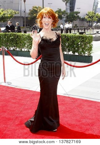 Kathy Griffin at the 2008 EMMY Creative Arts Awards held at the Nokia Theater in Los Angeles, USA on September 13, 2009.