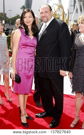 Deborah Lin and James Gandolfini at the 2008 EMMY Creative Arts Awards held at the Nokia Theater in Los Angeles, USA on September 13, 2009.