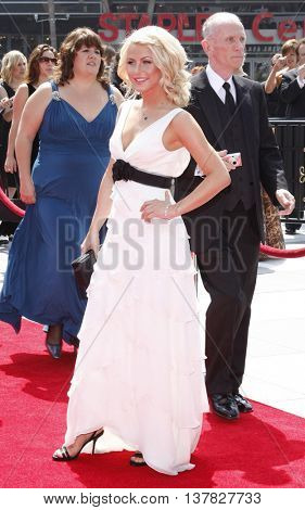 Julianne Hough at the 2008 EMMY Creative Arts Awards held at the Nokia Theater in Los Angeles, USA on September 13, 2009.