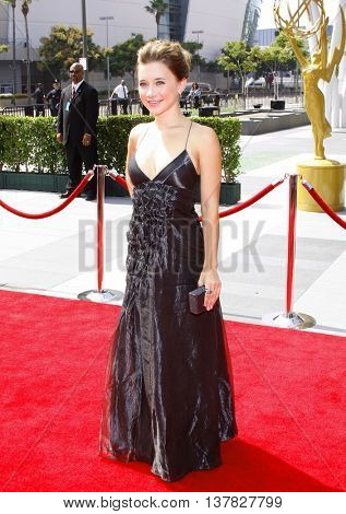Olesya Rulin at the 2008 EMMY Creative Arts Awards held at the Nokia Theater in Los Angeles, USA on September 13, 2009.