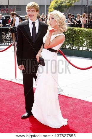 Cody Linley and Julianne Hough at the 2008 EMMY Creative Arts Awards held at the Nokia Theater in Los Angeles, USA on September 13, 2009.