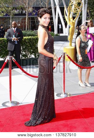Lisa Edelstein at the 2008 EMMY Creative Arts Awards held at the Nokia Theater in Los Angeles, USA on September 13, 2009.