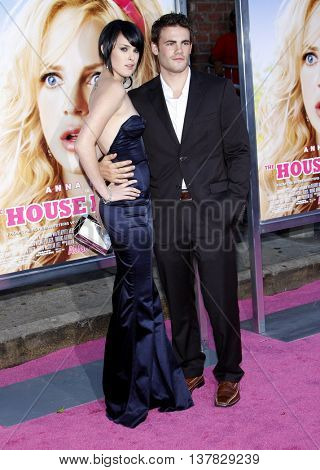 Rumer Willis and Micah Alberti at the Los Angeles premiere of 'House Bunny' held at the Mann Village Theatre in Westwood, USA on August 20, 2008.