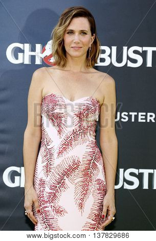 Kristen Wiig at the World premiere of 'Ghostbusters' held at the TCL Chinese Theatre in Hollywood, USA on July 9, 2016.