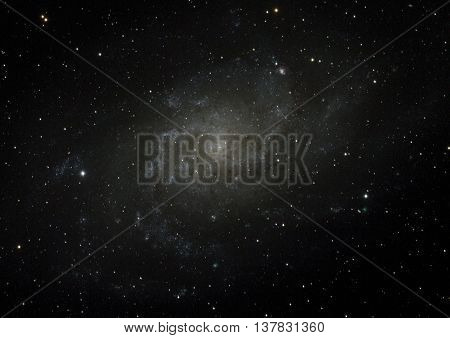 Spiral galaxy M33 in the constellation of the triangle