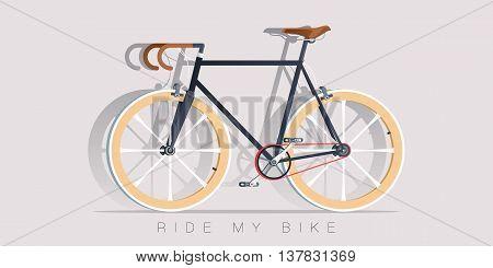 Retro Bicycle vector illustration. Realistic style. Bike icon