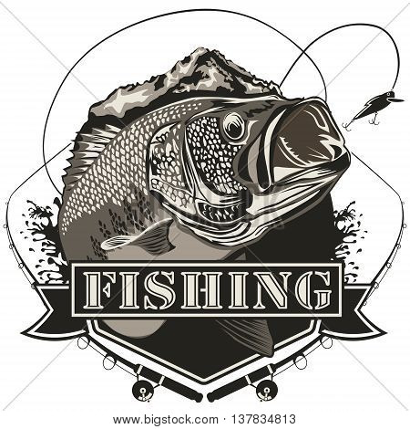 Bass Fishing Logo