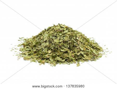 Dried lovage isolated on white background in studio