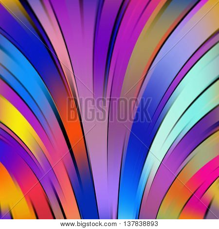 Vector Illustration Of Colorful Abstract Background With Blurred Light Curved Lines. Vector Geometri
