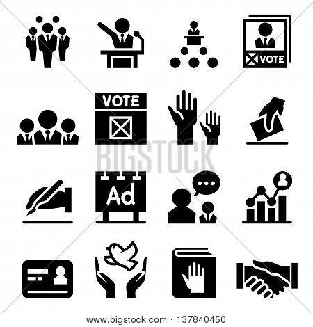 Democracy & election icon Vector illustration Graphic design