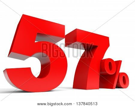 Red Fifty Seven Percent Off. Discount 57%.