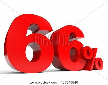 Red Sixty Six Percent Off. Discount 66%.