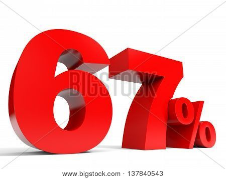 Red Sixty Seven Percent Off. Discount 67%.
