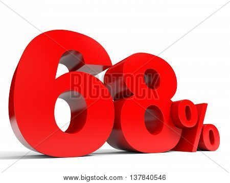 Red Sixty Eight Percent Off. Discount 68%.
