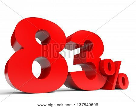 Red Eighty Three Percent Off. Discount 83%.