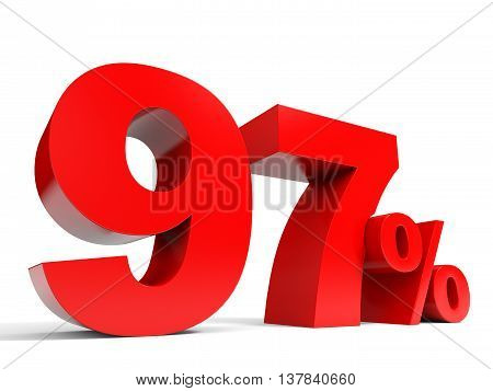 Red Ninety Seven Percent Off. Discount 97%.
