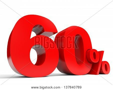 Red Sixty Percent Off. Discount 60%.