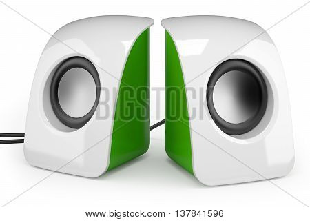 Portable Speakers Isolated On White Background