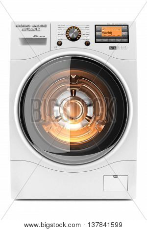 Washing Machine With Backlit 3D