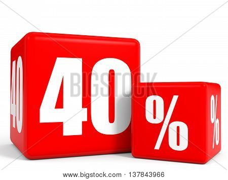Red Sale Cubes. Forty Percent Discount.