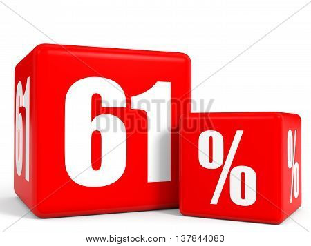 Red Sale Cubes. Sixty One Percent Discount.