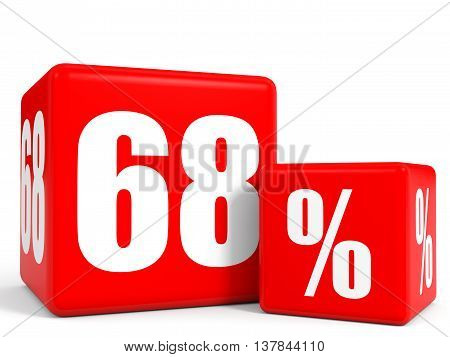 Red Sale Cubes. Sixty Eight Percent Discount.