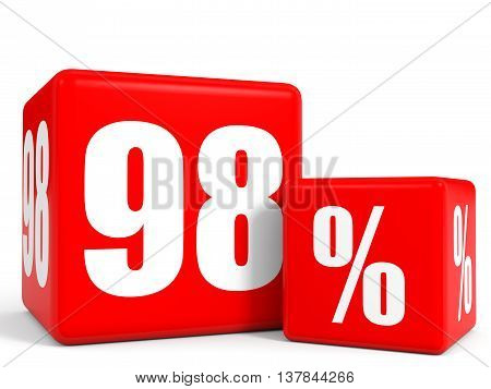 Red Sale Cubes. Ninety Eight Percent Discount.