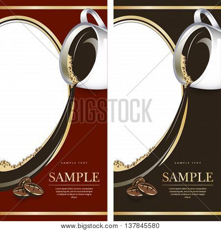 Set of label for chocolate or coffe. Grouped for easy editing. Perfect for labels for coffee chocolate liquor
