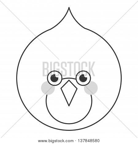 line bird flat icon isolated vector illustration
