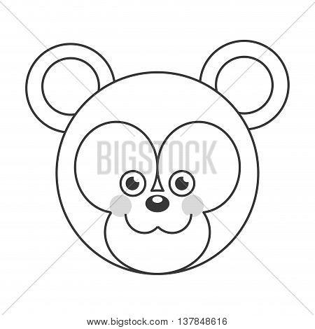 Cute baby bear cartoon isolated vector illustration