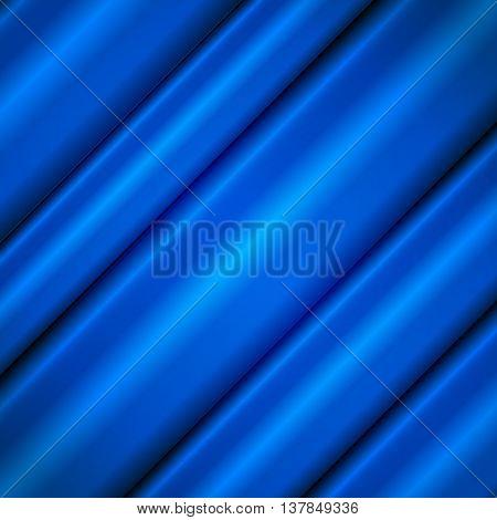 Blue silk waves. Blue background. Vector illustration