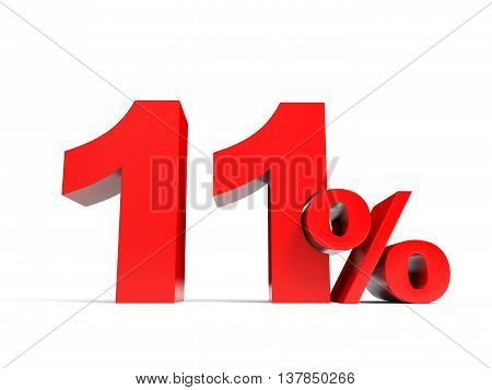 Red Eleven Percent Off. Discount 11%.