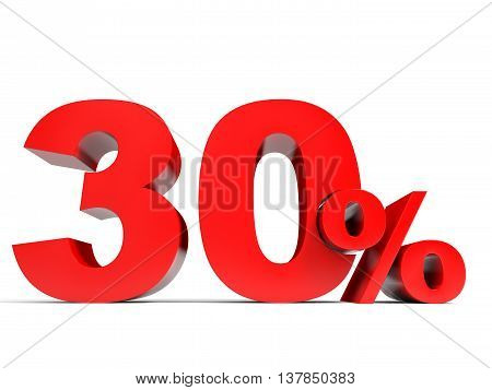 Red Thirty Percent Off. Discount 30%.