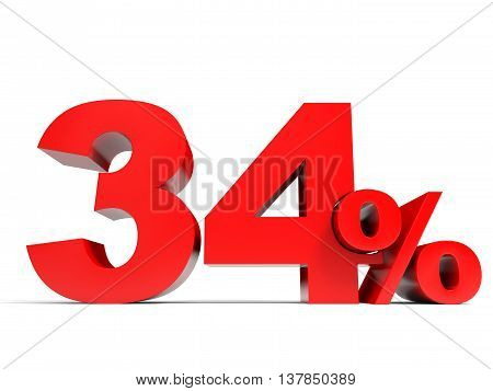 Red Thirty Four Percent Off. Discount 34%.