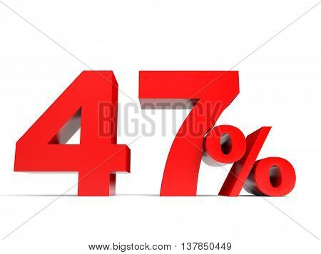 Red Forty Seven Percent Off. Discount 47%.