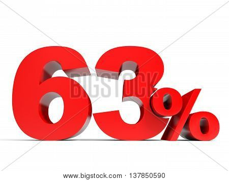 Red Sixty Three Percent Off. Discount 63%.