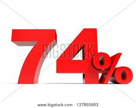 Red Seventy Four Percent Off. Discount 74%.